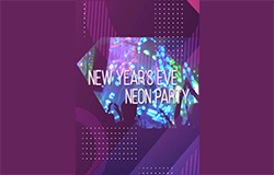 Vertical New Year s Eve Neon Party
